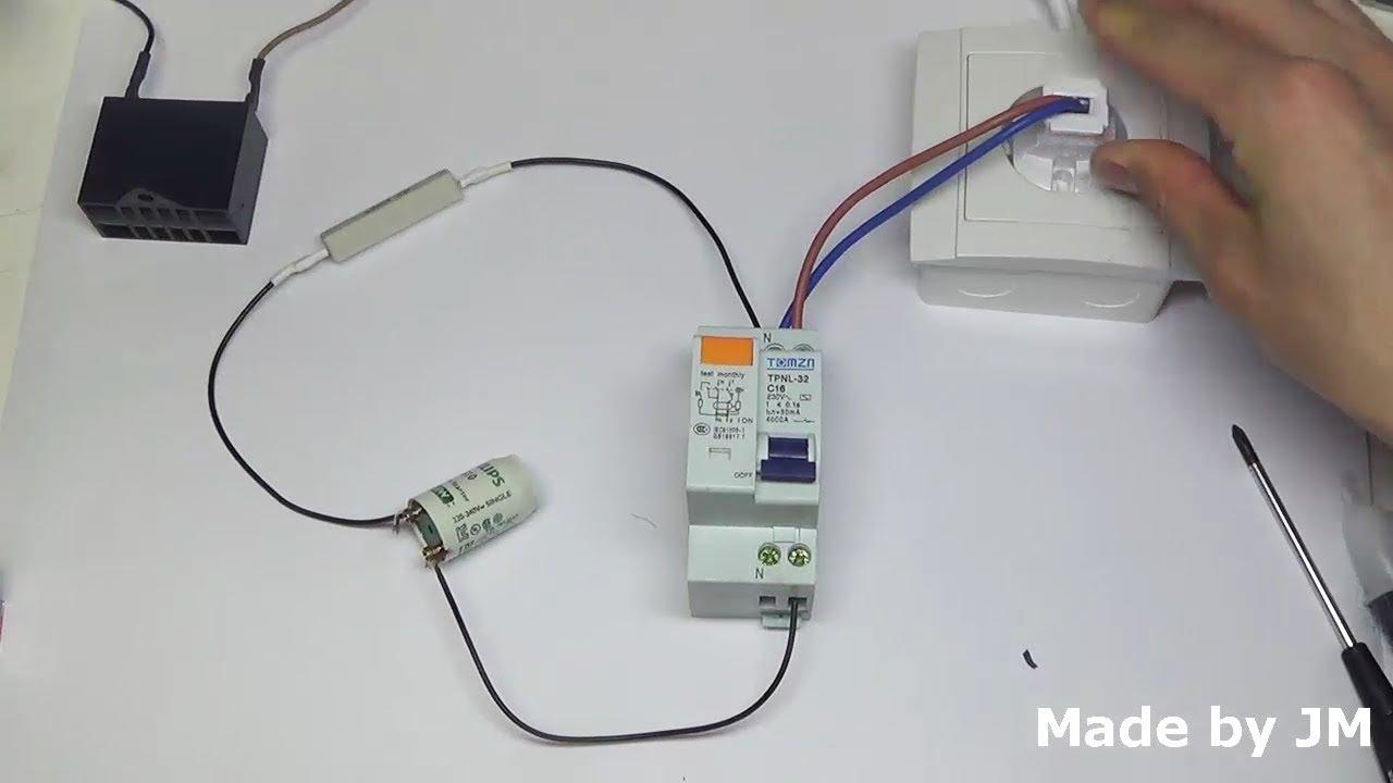 how to test elcb earth leakage circuit breaker  [ 1280 x 720 Pixel ]