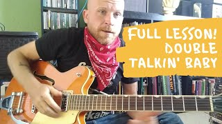 FULL LESSON! DOUBLE TALKIN' BABY - Stray Cats version