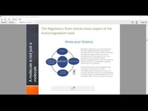 Webinar - Career in Regulatory Affairs