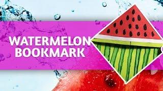 [Time-lapse] - DIY Watermelon Bookmark  Corner Tutorial