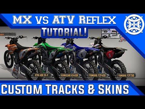 MX vs ATV Reflex | How to Get Custom Tracks, Skins & Gear! | HD Tutorial