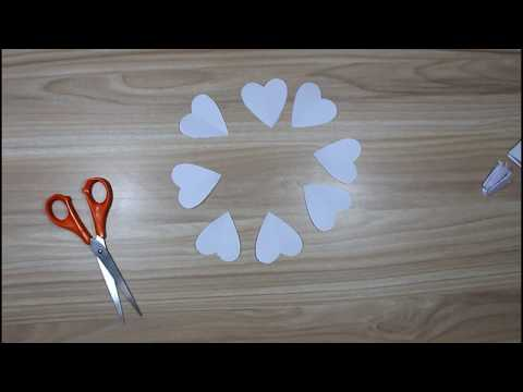 DIY How to make paper heart | Paper cutting design heart shape for decoration