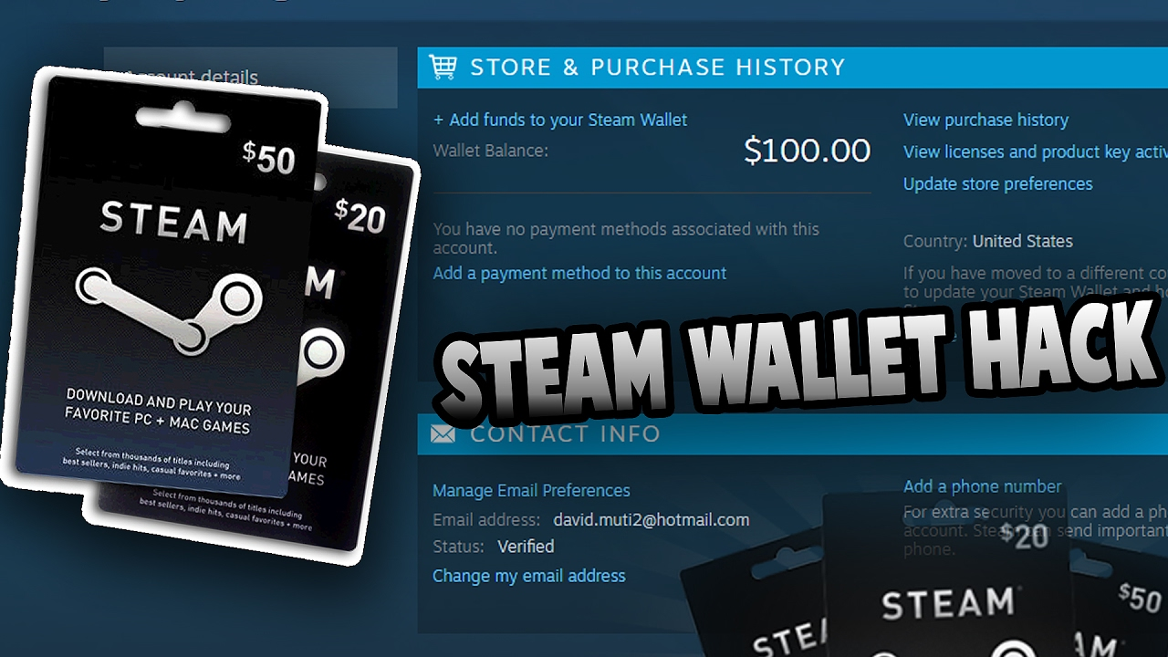 how to make steam wallet