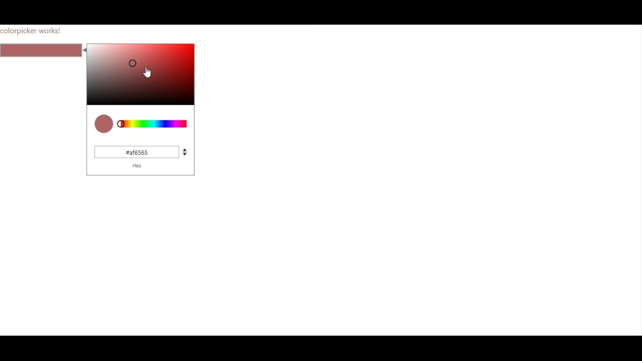 How to Use Color Picker in Angular  - Education For Betterment