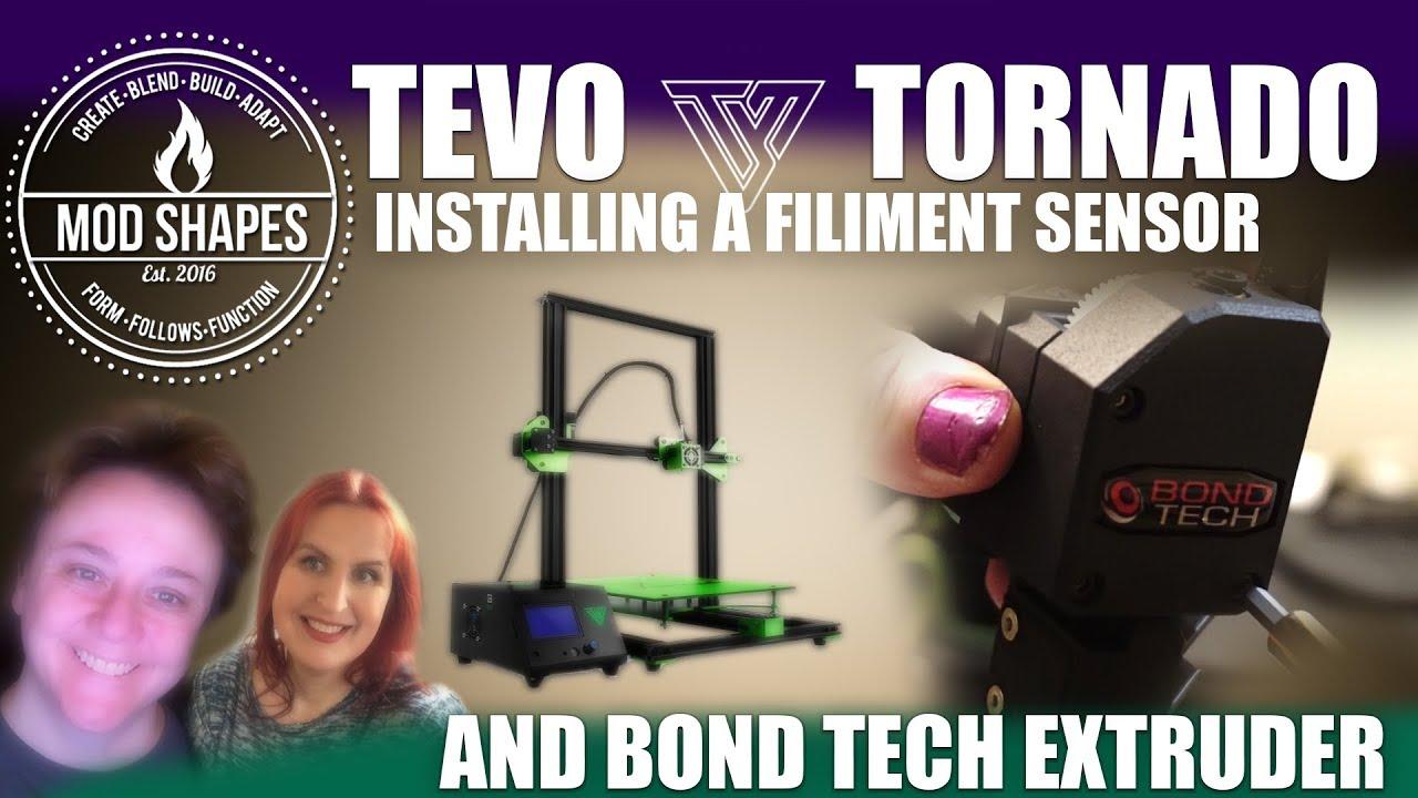 Installing Bondtech BMG Extruder plus a Filament Sensor Tevo Tornado