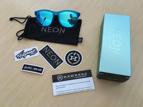 4f2b8102703 Unboxing Hawkers x Steve Aoki Neon, Light Blue Sunglasses - YouTube
