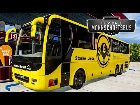 FBS MANNSCHAFTSBUS #6: Kurze Rast an der Tankstelle | Fernbus Simulator Football Team Bus |