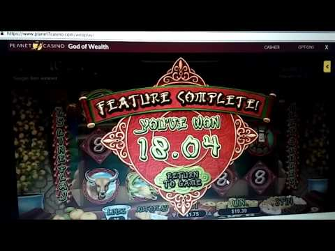 Planet 7 casino slot machine video free spins on god of wealth