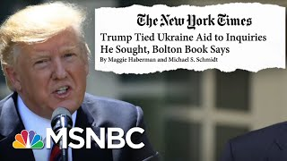 Trump's Team Presents Defense Amid New Bolton Revelations - Day That Was | MSNBC