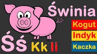 Nauka liter i nazw zwierząt na wsi dla dzieci | CzyWieszJak