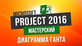 Microsoft Project 2016 Мастерский Урок 4 Диаграмма Ганта с выравниванием