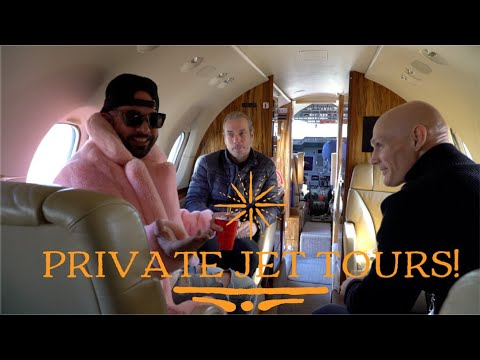Private Jets!! Inside look + tour inside the lives of millionaires as we tour their Private Jets!