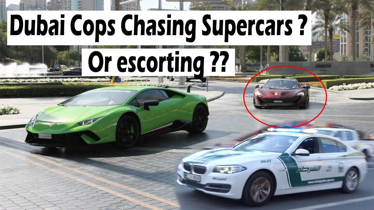 Dubai Police Chasing Supercars And Hypercars Youtube