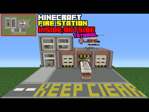 Minecraft Tutorial: How To Make A Fire Station Interior/Exterior (Inside/Outside)