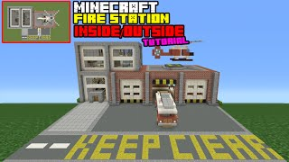 Minecraft Tutorial How Make Fire Station Interior Exterior Inside Outside