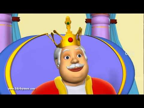 Old King Cole Nurery Rhyme - 3D Animation English Nursery Rhyme for children