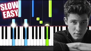 Shawn Mendes - There's Nothing Holdin' Me Back - SLOW EASY Piano Tutorial by PlutaX