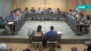 Ajuntament de Calafell: sessió plenària ordinària, 1 d'agost de 2017