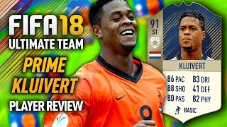 FIFA 18 PRIME KLUIVERT (91) *ICON* PLAYER REVIEW! FIFA 18 ULTIMATE TEAM!