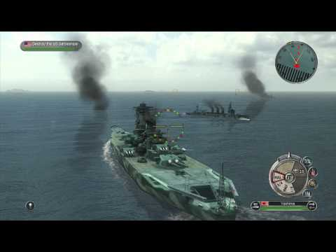 Battlestations Pacific: Cruiser and Super Yamato DLC Battleship gameplay