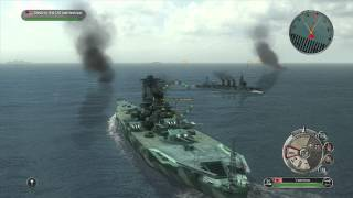 Battlestations Pacific: Cruiser and Super Yamato DLC Battleship gameplay