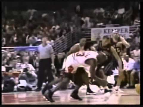 Michael Jordan Posterizes Kendall Gill (1998 Playoffs vs. New Jersey Nets)