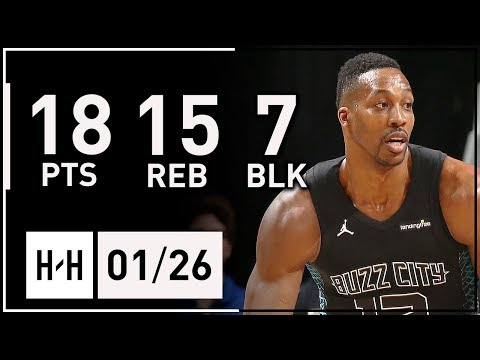 Dwight Howard CRAZY Full Highlights Hornets vs Hawks (2018.01.26) - 18 Pts, 15 Reb, 7 Blocks