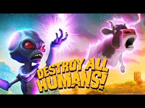 Destroy All Humans Remake Gameplay Deutsch – Das Gehirn einer Kuh studieren