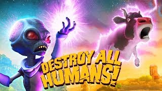 Destroy All Humans Remake Gameplay Deutsch - Das Gehirn einer Kuh studieren