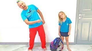 Алиса и папа - их утренняя рутина перед школой