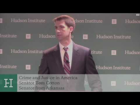 May 19, 2016: Sen. Tom Cotton delivers remarks at the Hudson Institute