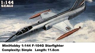 MiniHobby 1:144 F-104G Starfighter Kit Review