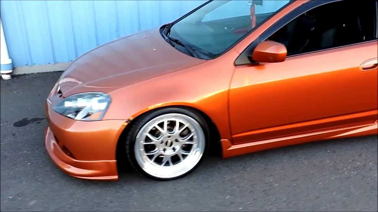 Orange RSX Slammed and Stanced - YouTube