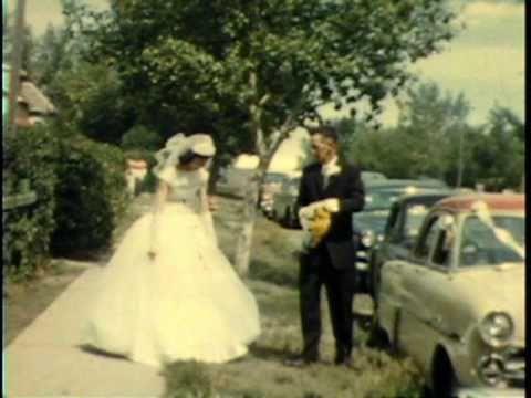 1957 Saskatoon Kindersley Wedding Mel Morgan Bonne...
