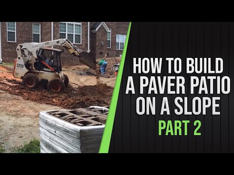 Part 2   How To Build A Paver Patio On A Slope