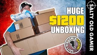 Huge $1200 Airsoft Unboxing! 😮   SaltyOldGamer Airsoft Special