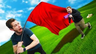 NERF Capture the GIANT Flag Challenge!!