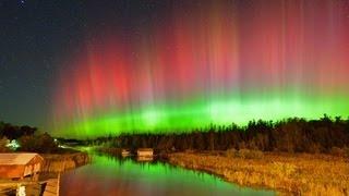 Aurora Borealis Over Leelanau County