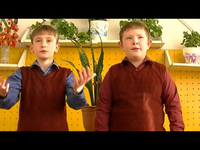 Изображение предпросмотра прочтения – «Бут Дмитрий и Даниил Гольцман» читают отрывок изпроизведения «Бородино» М.Ю.Лермонтова
