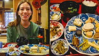 Traditional Japanese Meal with Mountain Vegetables (Sansai Ryori - 山菜) in Takayama, Japan