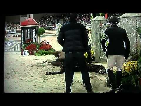 Eric Lamazes horse Hickstead dies of a Heart Attack while Competing