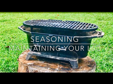 Grill Seasoning & Maintenance - Lodge Sportsman Grill LSG Rust Prevention - Teach a Man to Fish