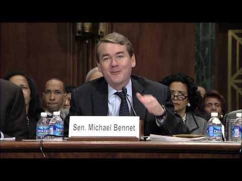 Sen. Michael Bennet Introduces Raymond Moore