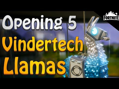 FORTNITE - Opening My First 5 Vindertech Llamas