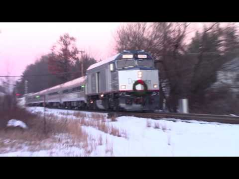 HD Amtrak 686 at Plaistow NH with an extra NPCU and P42DC 12-12-16