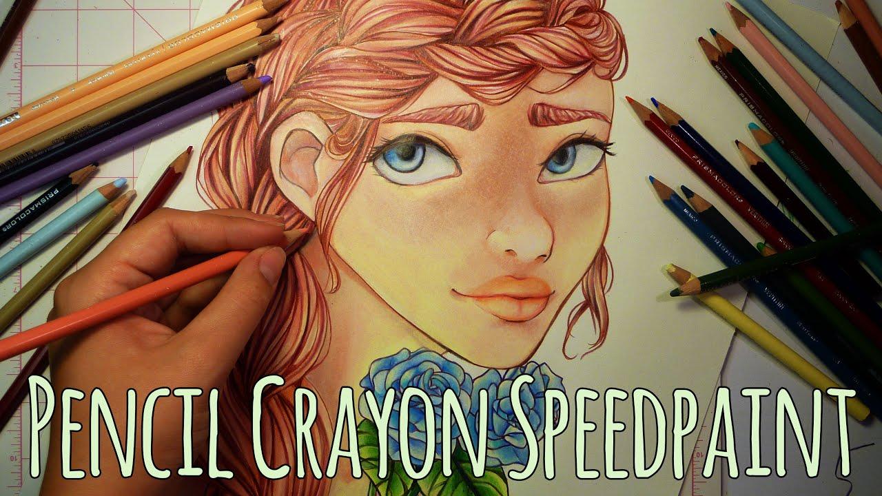 Pencil crayon speedpaint blue roses anime manga youtube