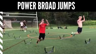 Power Broad Jumps: The Distance Between Hurdles Increases With Each Jump