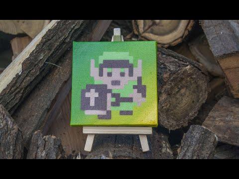 Zelda (Link) 8 bit Pixel art - SPRAY PAINT ART tutorial by Ucuetis thumbnail