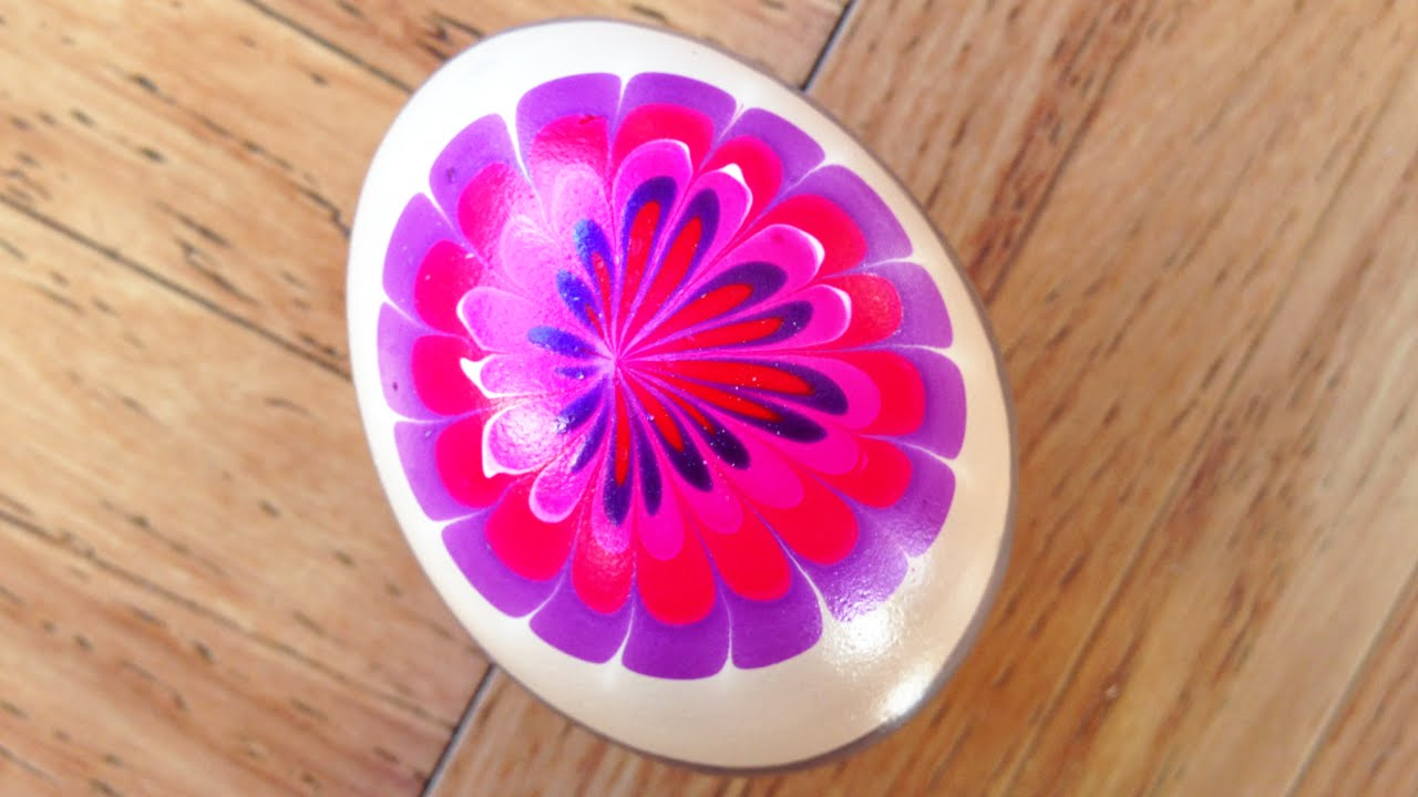 Egg Decoration With Nail Polish And Water Marble Youtube