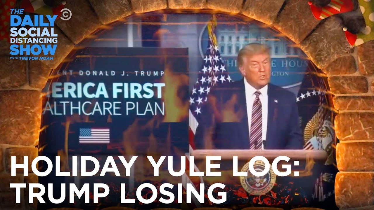LIVE - Holiday Yule Log: Trump Losing Over and Over | The Daily Social Distancing Show